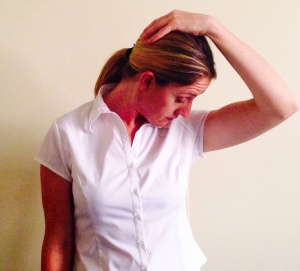 Finishing position for Levator Scapulae stretch